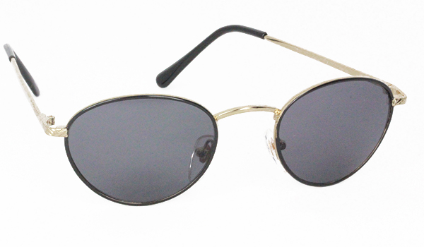 Sort oval mode solbrille